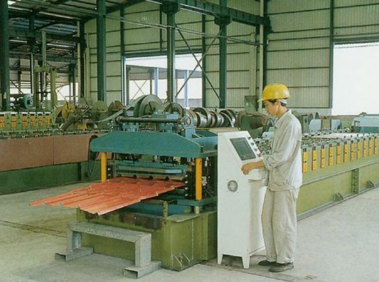 玻璃形瓦面生产线